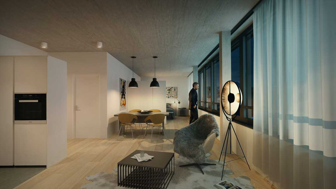 Miete: moderne Wohnung im LUWA-Areal